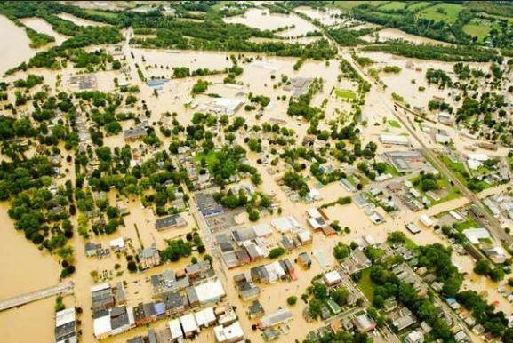 Binghamton flooded